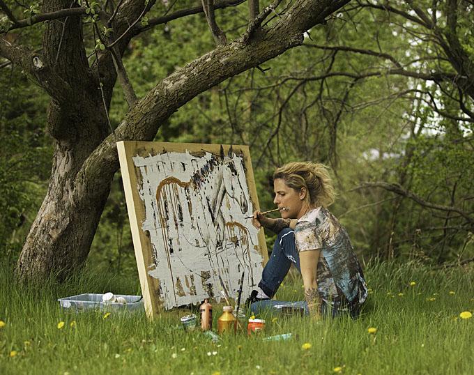 Emmanuelle Bressan painting