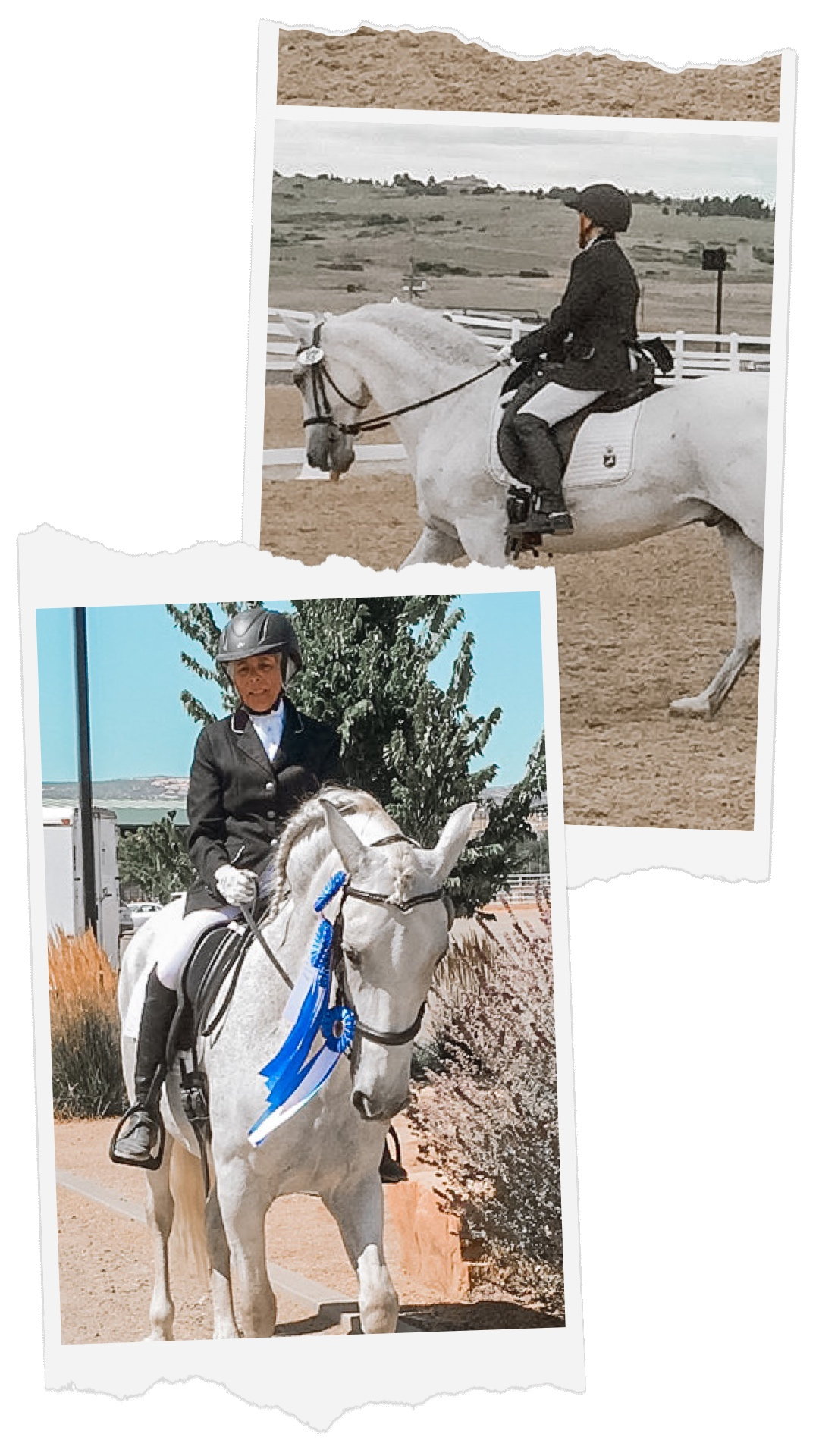 Cheri Isgreen competing with her horse, Monarch.